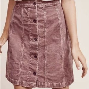 Anthropologie Pilcro Corduroy Gallery Skirt